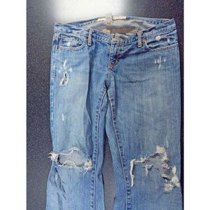 Abercrombie Distressed Madison Flare Jeans